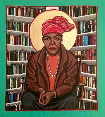 Painting - Maya Angelou by Kelly Latimore
