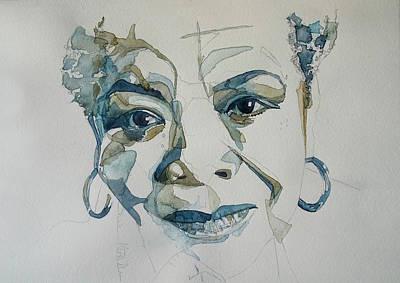 Painting - Maya Angelou by Paul Lovering