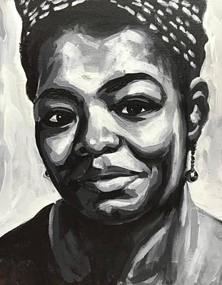 Painting - Maya Angelou by Seamas Culligan