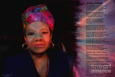 Mixed Media - Maya Angelou by Vannetta Ferguson