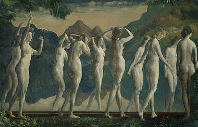 Dancing Girl Painting - Maya, Mirror Of Illusions by Arthur Bowen Davies