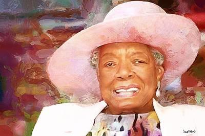 Painting - Maya - Pink Hat by Wayne Pascall