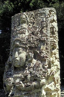 Photograph - Maya Stela Copan Honduras by John  Mitchell