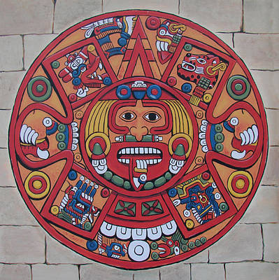 Painting - Mayan Calendar  by Bob Gregory
