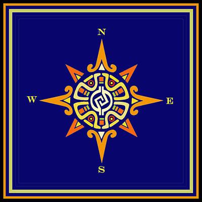 Digital Art - Mayan Compass by Vagabond Folk Art - Virginia Vivier