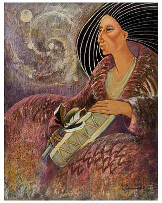 Mayan From Milky Way Gallacy Art Print