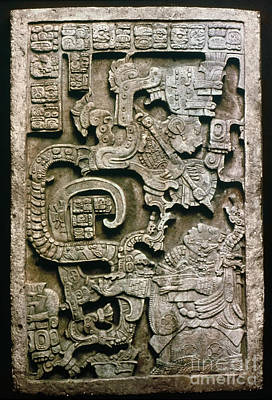 Photograph - Mayan Glyph by Granger