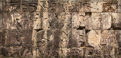Photograph - Mayan Hieroglyphics by Wes Jimerson