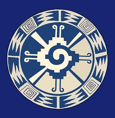 Digital Art - Mayan Hunab Ku Design by Vagabond Folk Art - Virginia Vivier