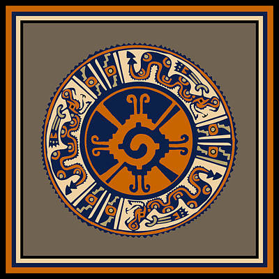 Digital Art - Mayan Hunab Ku Serpent by Vagabond Folk Art - Virginia Vivier