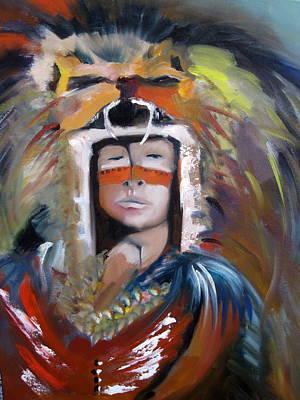 Mayan Painting - Mayan Indian by Jeff Hunter