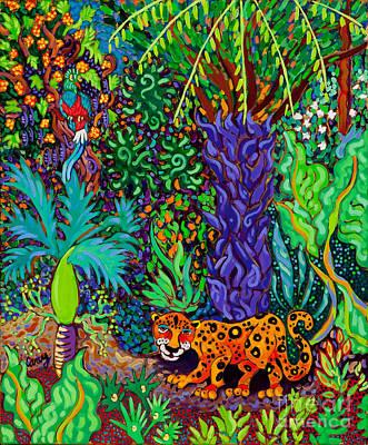 Mayan Jaguar Painting - Mayan Jaguar by Cathy Carey