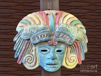 Photograph - Mayan Mask Decoration by Gabriele Pomykaj