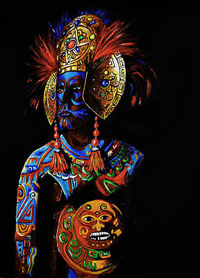 Mayan Painting - Mayan Priest by Paul SANDILANDS