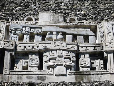 Photograph - Mayan Relief Sculpture by Tim Townsend