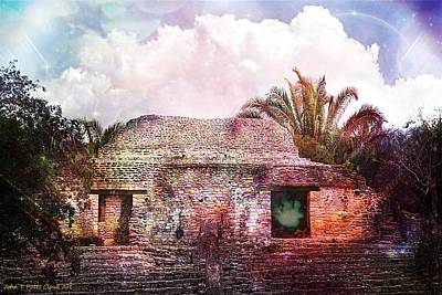 Photograph - Mayan Ruin Cloud Art by John Potts