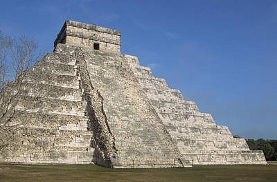 Mayan Photograph - Mayan Ruins At Chichen Itza, Kukulcans Pyramid, Yucatan, Mexico by Tom Brakefield