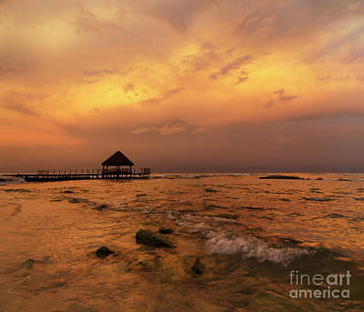 Photograph - Mayan Sunset by Dennis Hedberg