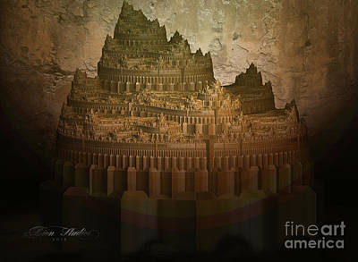 Digital Art - Mayan Temple by Melissa Messick