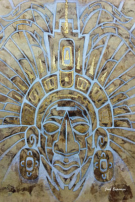 Painting - Mayan Warrior by J- J- Espinoza