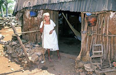 Mayan Photograph - Mayan Woman by Buddy Mays