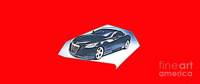Digital Art - Maybach Exelero Sports Car Coupe 2005 by Richard W Linford
