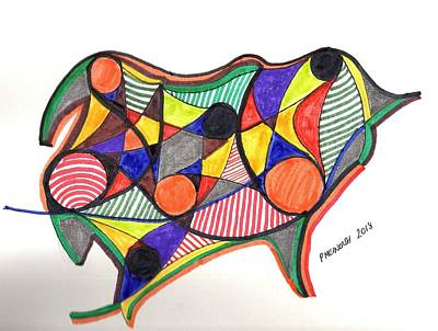 Drawing - Maybe A Pig by Paul Meinerth