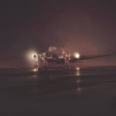Dc-3 Painting - Maybe Not Today Maybe Not Tomorrow... by Hangar B Productions