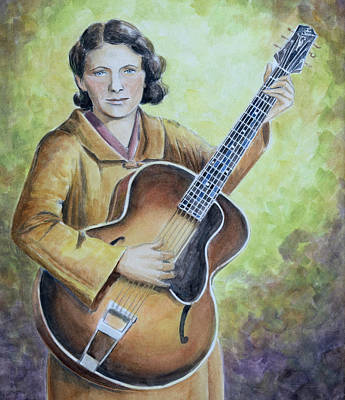 Painting - Maybelle Carter by Paula Blasius McHugh