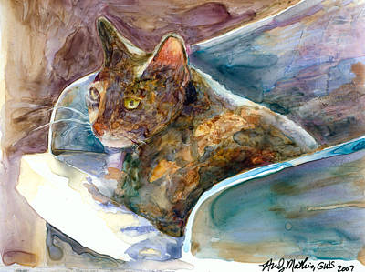 Tortie Painting - Maybelline by Andy  Mathis