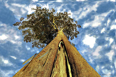 Gondwana Painting - Mayflies On The Eucalyptus Viminalis by Sarah King