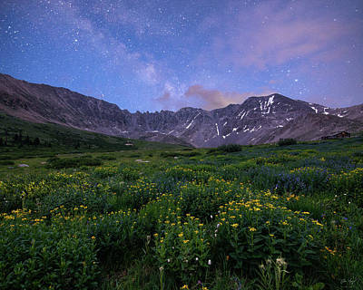 Photograph - Mayflower Gulch At Night by Aaron Spong