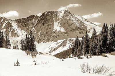 Photograph - Mayflower Gulch In Sepia by Eric Glaser