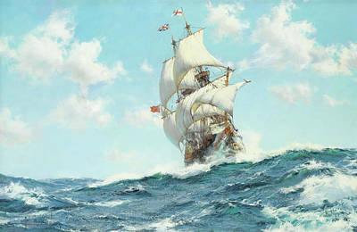 Mayflower II Art Print by Montague Dawson