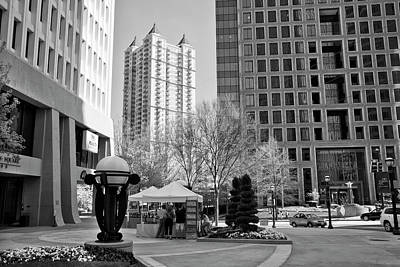 Photograph - Mayflower Tower Condos Black And White by Jill Lang