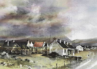 Painting - Mayo.... Storm Over Dooagh, Achill by Val Byrne