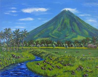 Painting - Mayon Volcano by Amelie Simmons
