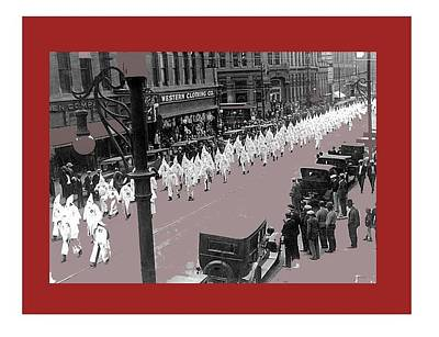 Mayor Benjamin Stapelton Leads Kkk March Downtown Denver Colorado 1923 Number One   Art Print by David Lee Guss