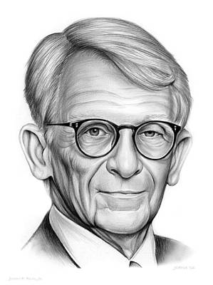 Politicians Drawings - Mayor Riley by Greg Joens