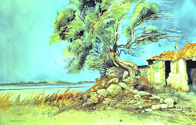 Art Print featuring the painting Mayorcan Tree by Douglas Teller