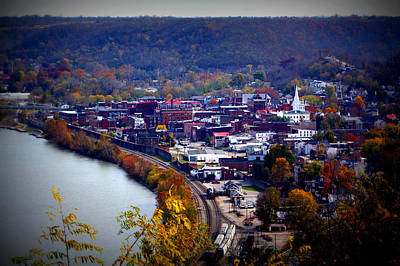 Birdseye Photograph - Maysville Kentucky by Susie Weaver