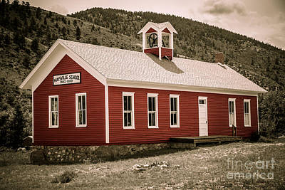 Little Red School House Photograph - Maysville School by Lynn Sprowl