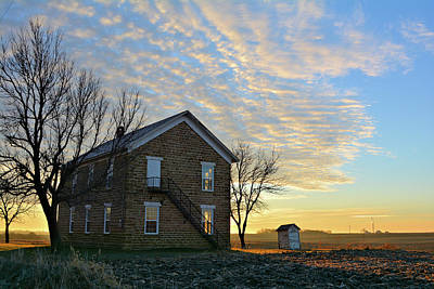 Photograph - Maysville School Sunise by Bonfire Photography