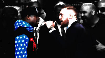 Mixed Media - Mayweather And Mcgregor 2d                  by Brian Reaves