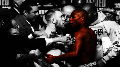 Mixed Media - Mayweather And Mcgregor 3b                   by Brian Reaves