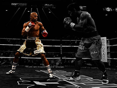 Digital Art - Mayweather And Pacquiao by Brian Reaves