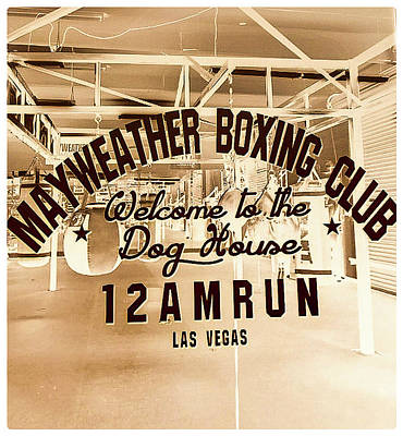 Mayweather Boxing Club Art Print