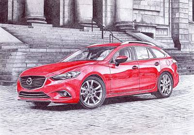 Super Cars Drawing -  Mazda 6 by Oleg Kozelskiy