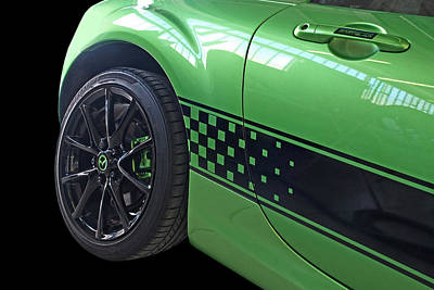 Photograph - Mazda Mx-5 Chequered Flag Detail by Gill Billington