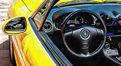 Photograph - Mazda Mx5 Through The Window by Dorothy Berry-Lound